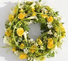 Calla Wreath Yellow