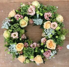 Country Peach Wreath